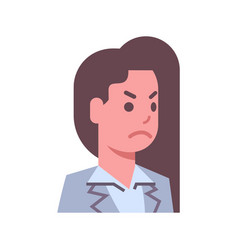 female angry emotion icon isolated avatar woman vector image vector image