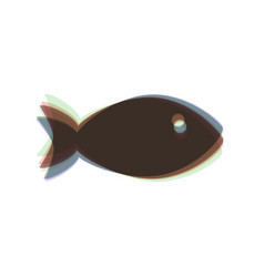 Fish sign colorful icon vector