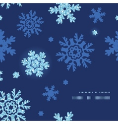 Glitter snowflakes dark frame corner pattern vector