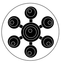 hand spinner with balls on blades vector image vector image