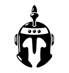 knight helmet icon simple black style vector image