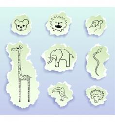logos torn doodles vector image vector image