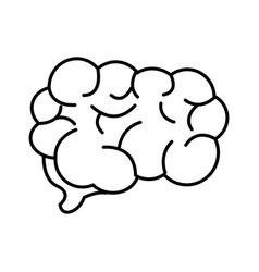 Mental health smart brain line icon vector