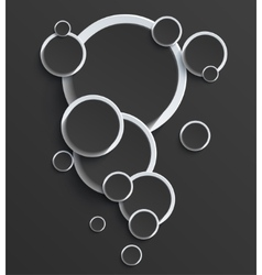 modern balck circle background vector image