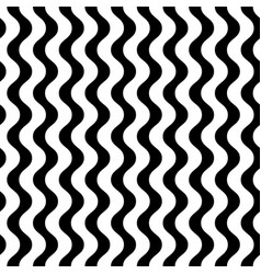 monochrome seamless pattern vertical wavy lines vector image vector image