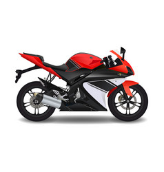 motorcycle red sport bike vector image