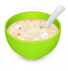 mushroom soup vector image vector image