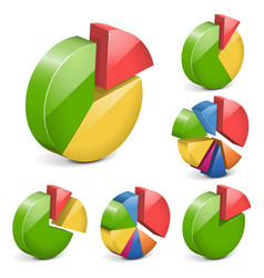 pie charts vector image vector image