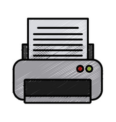 printer electronic device vector image vector image