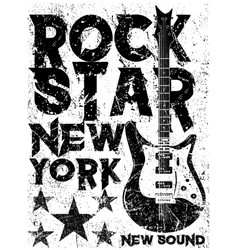 Rock star vintage rock and roll typographic for vector