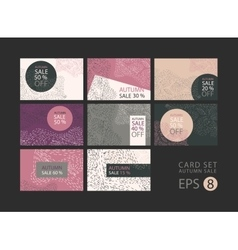 set of cards on sale discount concept vector image