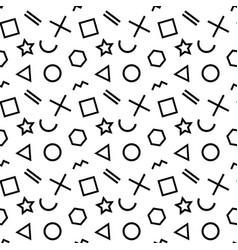 stylish seamless pattern of simple black geometric vector image vector image