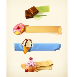 Sweet set of banners vector image vector image
