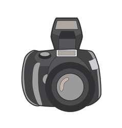 Symbol photo camera Icon for web site Line art vector image vector image