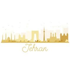 Tehran City skyline golden silhouette vector image