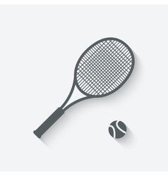 Tennis sport icon vector