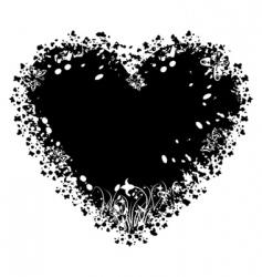 valentines grunge heart vector image vector image
