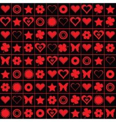 valentines motives vector image