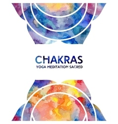 Watercolor chakras background vector