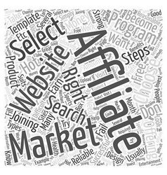 What to do after joining an affiliate program word vector