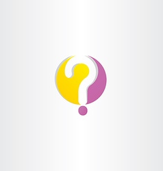 yellow purple question mark logo vector image