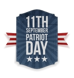 September 11th Patriot Day paper Banner vector image