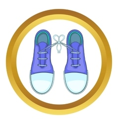 Tied shoes joke icon vector