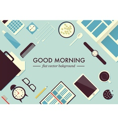 Morning table vector