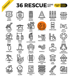 Rescue concept icons vector