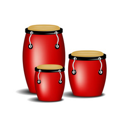 Congas band in red design with shadow vector