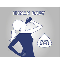 Human body water vector