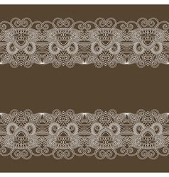 Ornament floral background with lace for your desi vector