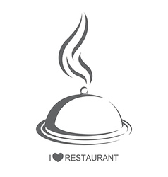 Restaurant 4 food platter with cover vector