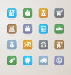 Finance and shopping icons set vector