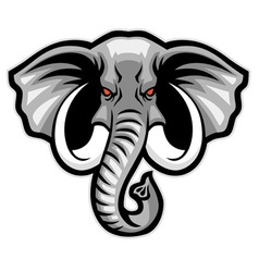Elephant head mascot vector