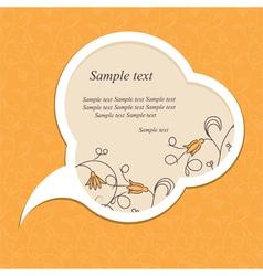 floral speech bubble vector image
