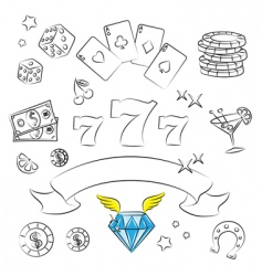 Casino graphics vector