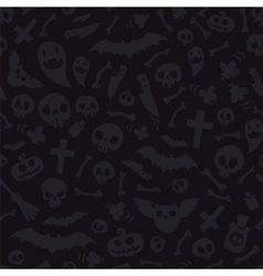 Halloween symbols seamless pattern dark vector