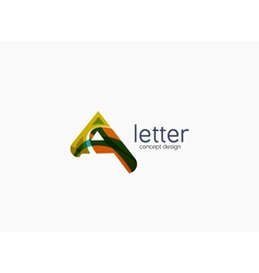 Modern a letter company logo vector