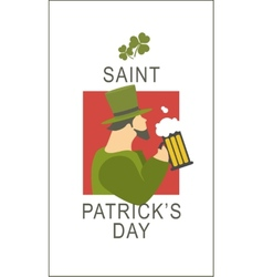 Template flyer st patricks day vector