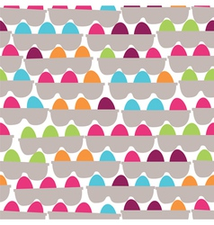 Boxes with the painted festive eggs vector