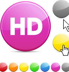 Hd glossy button vector