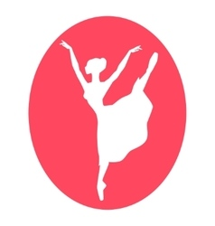 Emblem of dance ballet studio with ballerina vector