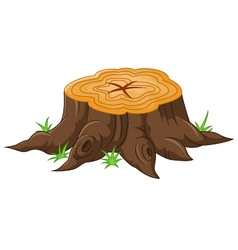 Cartoon tree stump vector