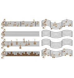 Sheet music vector