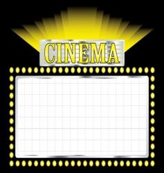 deco cinema vector image