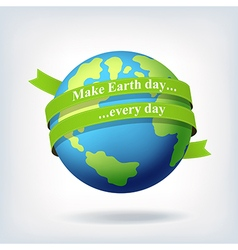 Earth day symbol design vector