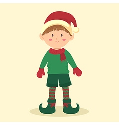 Elf christmas boy vector