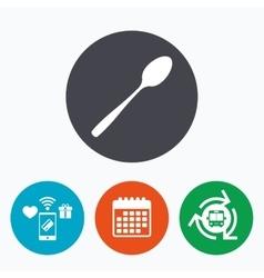 Eat sign icon cutlery symbol diagonal teaspoon vector