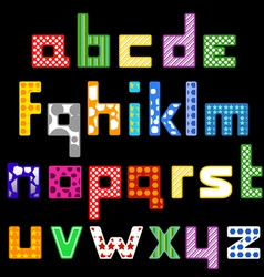 Colorful cubic style font vector image